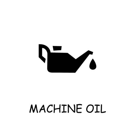 Machine Oil flat vector icon. Hand drawn style design illustrations.