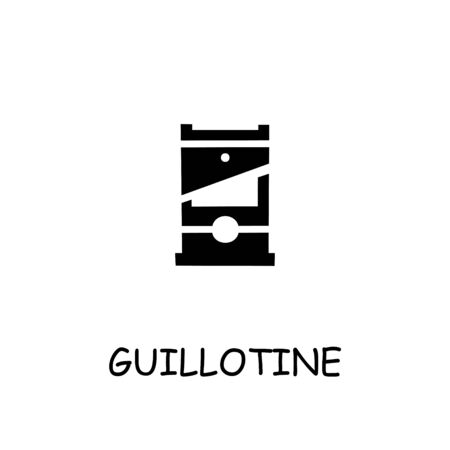 Guillotine flat vector icon. Hand drawn style design illustrations.