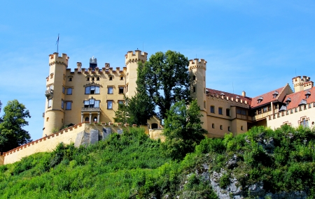 Hoheschwangau castle in Bavarian alps, Germany