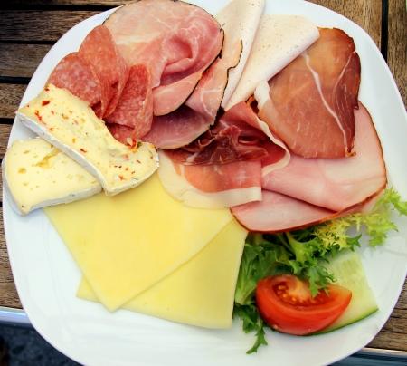 comida alemana: Desayuno alemán Foto de archivo