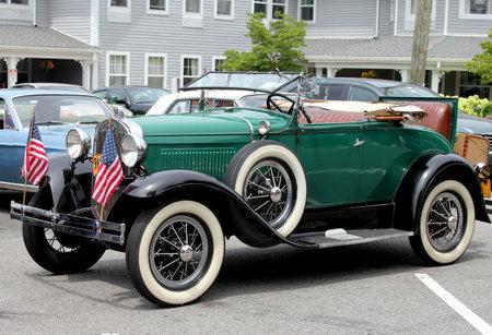 custom car: A 1928 model A Ford