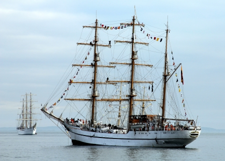 Tall Ships in New York Harbor Stock Photo - 15550001