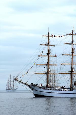 merchant: Tall Ships in New York Harbor