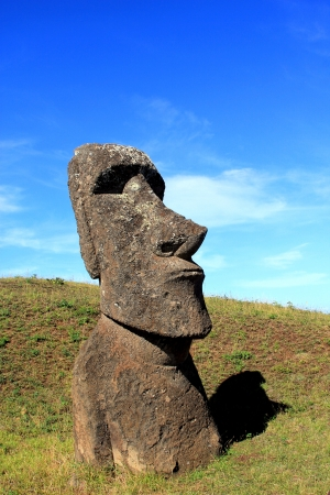 topknot:  Moai at Quarry, Easter Island, Chile
