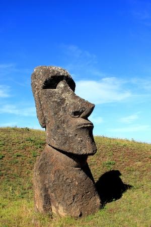 moai:  Moai at Quarry, Easter Island, Chile