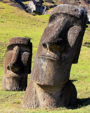 Moai at Quarry, Easter Island, Chile Stock Photo - 15640602