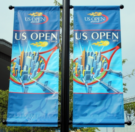 billie:  Billie Jean King National Tennis Center ready for US open tournament on August 21, 2012 in Flushing, NY  Editorial