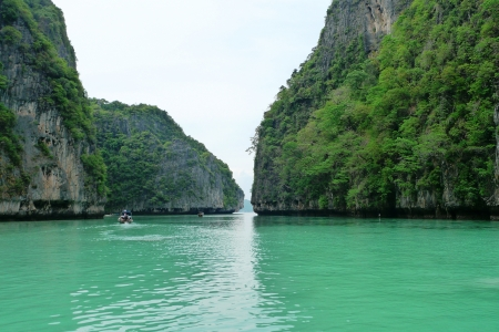 Islands at Phang Nga Bay near Phuket, Thailand Stock Photo