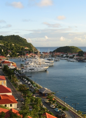 St  Barth harbor, Gustavia, French West Indies Stock Photo - 15640328