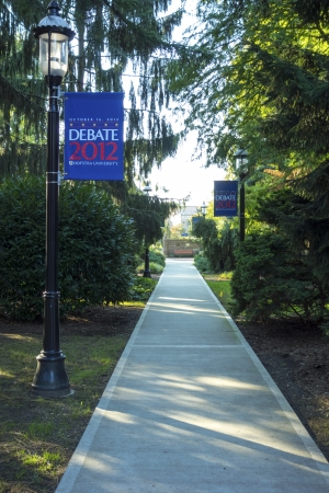 HEMPSTEAD, NY - OCTOBER 12: Hofstra University ready for 2012 Second Presidential Debate  which will take place on October 16, 2012 in Hemstead, NY