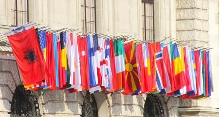 世界の国旗 写真素材