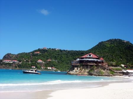 million: The beautiful Caribbean beach at St  Barth   Stock Photo