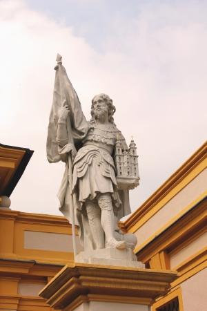 leopold: Statue of Leopold II in Melk Abbey, lower Austria Stock Photo