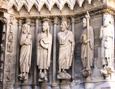 seraphic: Statues at Rheims Cathedral, since 1991     Editorial