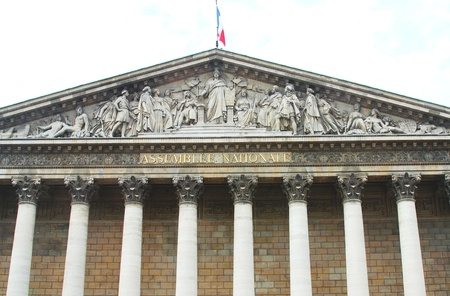 nationale: Assemblee Nationale  Palais Bourbon  - the French Parliament   Editorial