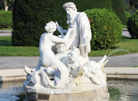 Fountain in front of Natural History Museum,Vienna, Austria