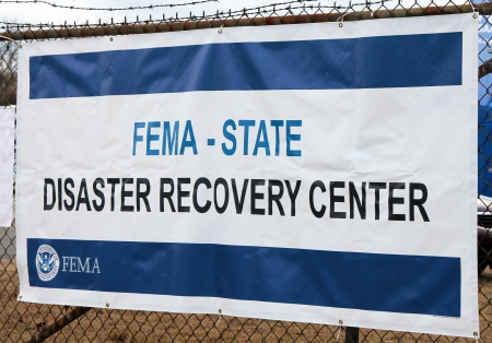 BREEZY POINT, NY - NOVEMBER 15: FEMA opens disaster recovery center  in devastated area in the aftermath of Hurricane Sandy on November 15, 2012 in Breezy Point, NY Editorial