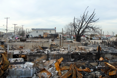 breezy: BREEZY POINT, NY - NOVEMBER 20: Burned houses in the aftermath of Hurricane Sandy on November 20, 2012 in Breezy Point, NY. More than 80 houses were destroyed in out-of-control six-alarm blaze.