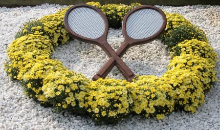 grand hard:  Tennis decoration at Billie Jean King National Tennis Center