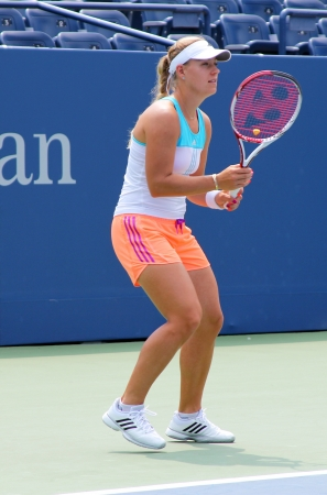 billie: FLUSHING, NY - AUGUST 23: Professional tennis player Angelique Kerber practices for US Open at Louis Armstrong Stadium at Billie Jean King National Tennis Center on August 23, 2012 in Flushing, NY
