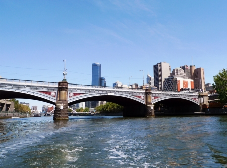 Princes Bridge over Yarra river in Melbourne, Australia
