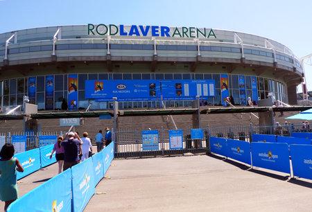 grand open: MELBOURNE, AUSTRALIA - JANUARY 29:Rod Laver arena  at Australian tennis center on January, 29,2009 in MELBOURNE, AUSTRALIA. It is the main venue for the Australian Open  tennis championship since 1988