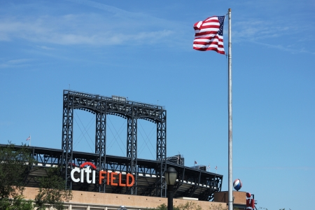 FLUSHING, NY - AUGUST 26: Citi Field, home of major league baseball team the New York Mets on August 26, 2012 in Flushing, NY.  Stock Photo - 17435921