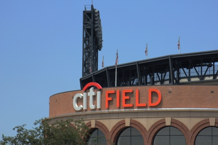 FLUSHING, NY - AUGUST 26: Citi Field, home of major league baseball team the New York Mets on August 26, 2012 in Flushing, NY. Stock Photo - 17465330