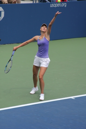 louis armstrong: FLUSHING, NY - AUGUST 25: Four times Grand Slam champion Maria Sharapova practices for US Open at Louis Armstrong Stadium at Billie Jean King National Tennis Center on August 25, 2012 in Flushing, NY.
