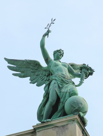 Statue of Fortuna by Johannes Benk  1896  at Hofburg Palace in Vienna