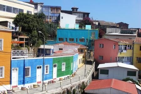 valparaiso: Colorful houses at Hill Bellavista in Valparaiso, Chile