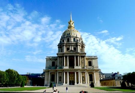 invalides: Les Invalides in Paris, chapel Saint Louis des Invalides   Stock Photo
