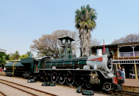 PRETORIA, SOUTH AFRICA- SEPTEMBER 9: Steam  train about to depart from Capital Park Station in Pretoria on September 9, 2009.  Pride of Africa train is  one of the World s Top 25 Trains.