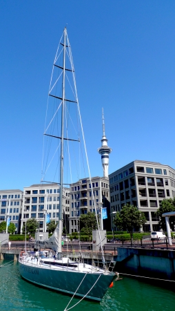 AUCKLAND, NEW ZEALAND - JANUARY 23 :Waterfront in Auckland, New Zealand on January 23, 2009.  Auckland is the largest and most populous urban area in the country.