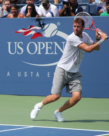 louis armstrong: FLUSHING, NY - AUGUST 25: Professional tennis player Mardy Fish practices for US Open at Louis Armstrong Stadium at Billie Jean King National Tennis Center on August 25, 2012 in Flushing, NY.