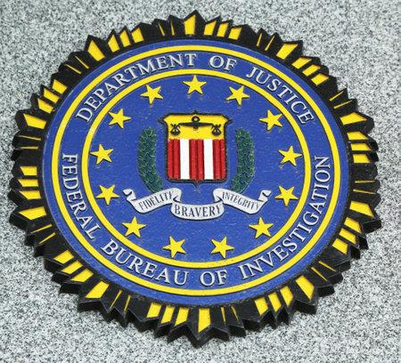fbi: Brooklyn, New York - 9 avril: embl�me du FBI sur tomb� officiers m�morial le 9 Avril 2013, � Brooklyn, NY. 71 policiers ont �t� tu�s le 11 Septembre 2001