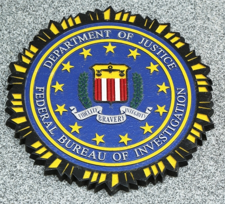 BROOKLYN, NEW YORK - APRIL 9 : FBI emblem on fallen officers memorial on April 9, 2013 in Brooklyn, NY. 71 officers were killed on September 11, 2001 Editorial