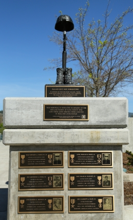 CITY OF NAPA, CALIFORNIA- MARCH 24: Monument on honor of fallen soldiers lost their life in Iraq and Afghanistan in Veterans Memorial Park, City of  Napa on March 24, 2013