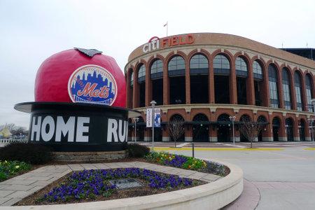 FLUSHING, NY - April 11: Citi Field, home of major league baseball team the New York Mets on April 11, 2013 in Flushing, NY Stock Photo - 19031078