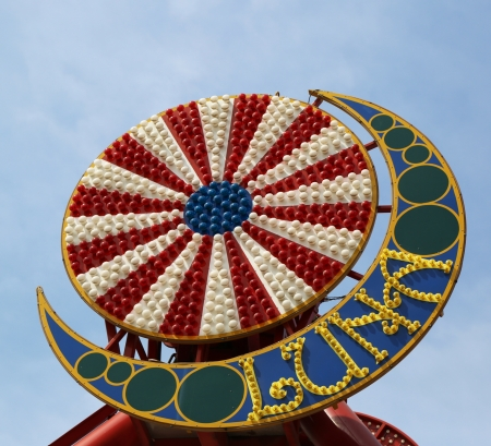 Coney Island Luna Park emblem in Brooklyn, New York  Coney Island Luna Park was destroyed by fire in 1944, then reopened in 2010 Stock Photo - 19183505