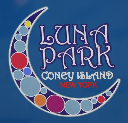 coney: Coney Island Luna Park emblem in Brooklyn, New York  Coney Island Luna Park was destroyed by fire in 1944, then reopened in 2010