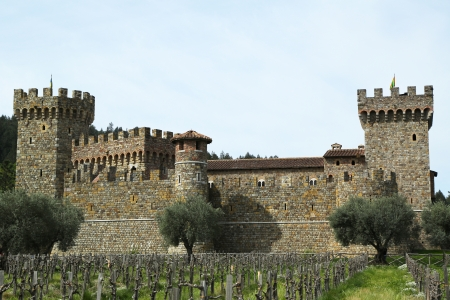 NAPA VALLEY, CA - MARCH 25: Castello di Amorosa Winery in Napa Valley on March 25, 2013. The castle interiors, which include 107 rooms on 8 levels, cover approximately 121,000 square feet