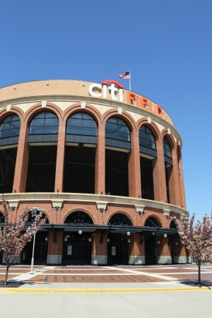FLUSHING, NY - MAY 2: Citi Field, home of major league baseball team the New York Mets on May 2, 2013 in Flushing, NY. The Mets will host the Major League Baseball All-Star Game on July, 16 2013. Stock Photo - 19369090