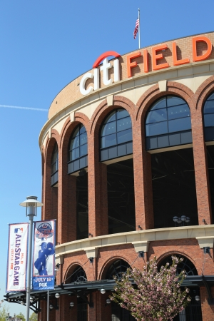 FLUSHING, NY - MAY 2: Citi Field, home of major league baseball team the New York Mets on May 2, 2013 in Flushing, NY. The Mets will host the Major League Baseball All-Star Game on July, 16 2013. Stock Photo - 19369096