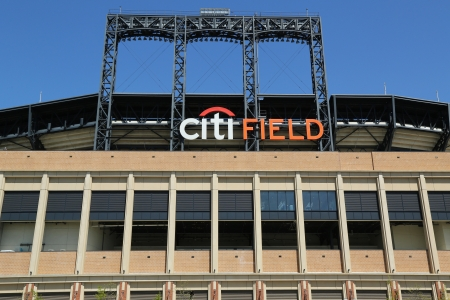 FLUSHING, NY - MAY 2: Citi Field, home of major league baseball team the New York Mets on May 2, 2013 in Flushing, NY. The Mets will host the Major League Baseball All-Star Game on July, 16 2013. Stock Photo - 19415168