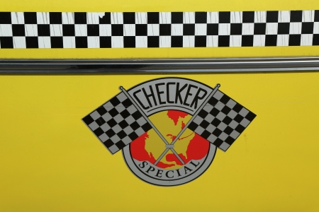 NEW YORK - APRIL 9:Checker Taxi Cab produced by the Checker Motors Corporation In New York on April 9, 2013. The Checker  remains the most famous taxi cab vehicle in the United States