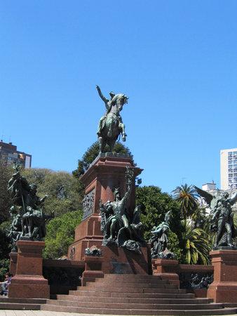 jose de san martin: BUENOS AIRES, ARGENTINA -  SEPTEMBER 28: General Jose de San Martin monument at  the Plaza San Martin in Buenos Aires on September 28, 2003. It was created by Louis-Joseph Daumas in 1862.