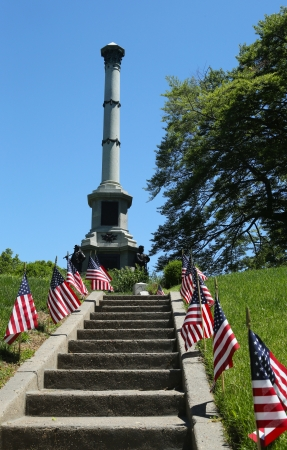 greenwood: BROOKLYN, NY  - JUNE 4: Soldiers monument at the Battle Hill at the Green-Wood cemetery in Brooklyn on June 4, 2013, It commemorates the New Yorkers who served the Union during the Civil War Editorial