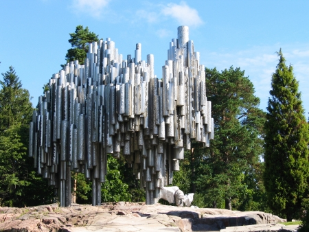 sibelius: HELSINKI, FINLAND - AUGUST 6: Jean Sibelius Monument in Helsinki, Finland on August 6, 2005. Jean Sibelius was a Finnish composer of the late Romantic period