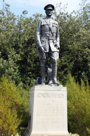 pershing: SAN FRANCISCO, CA - MARCH 29: General John Pershing  statue near the DeYoung museum in Golden Gate Park on March 29, 2013.Golden Gate Park consisting of 1,017 acres (412 ha) of public grounds